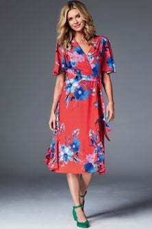 Kaleidoscope Wrap Detail Dress