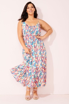 Sara Crinkle Maxi Dress