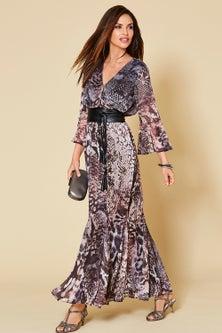 Kaleidoscope Printed Georgette Maxi Dress