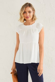 Capture Tiered Gathered Top