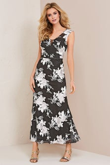 Kaleidoscope Lace Embroidered Maxi Dress