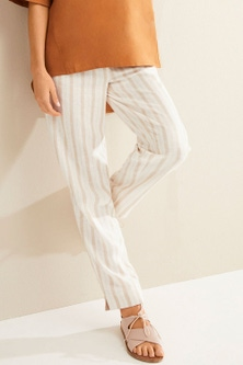 Grace Hill Linen Blend Tapered Pants