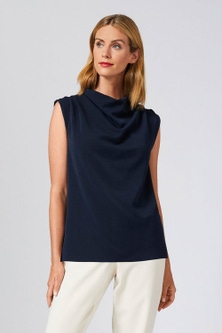Grace Hill Pleated Cowl Neck Top