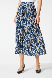 Grace Hill Pleated Panelled Skirt
