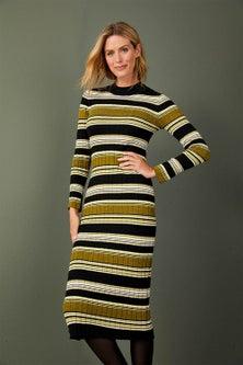 Capture Ribbed Knit Midi Dress