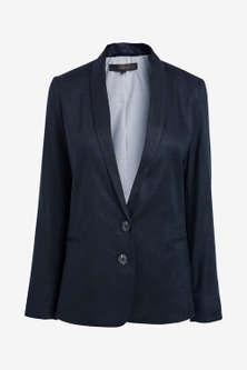 Next Linen Blend Single Breasted Blazer-Tall