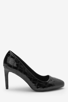 Next Almond Toe Court Shoes-Wide Fit