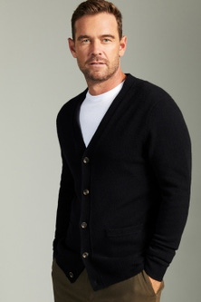 Southcape Lambswool V Neck Cardigan