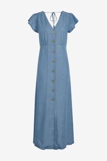 Next TENCEL Button Through Maxi Dress
