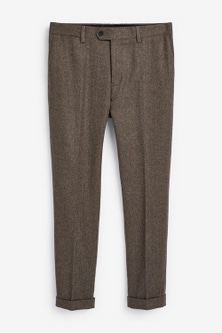 Next Herringbone Suit: Trousers-Skinny Fit
