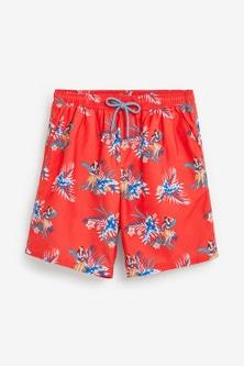 Next Floral Hawaiian Print Swim Shorts
