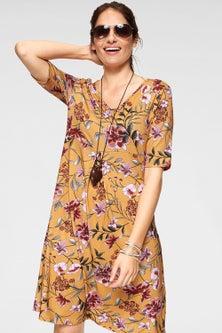 Urban Printed Midi Dress