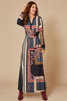 Kaleidoscope Scarf Print Dress