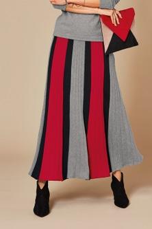 Kaleidoscope Stripe Knit Skirt