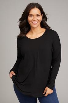Sara Long Sleeve Round Neck Tee
