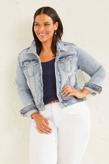 Sara Distressed Denim Jacket