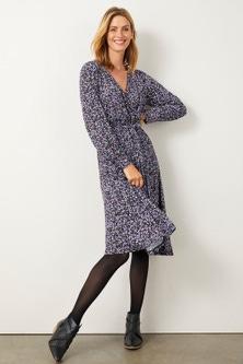 Capture Knit Wrap Dress