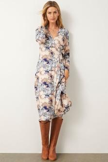 Capture Knit Wrap Midi Dress