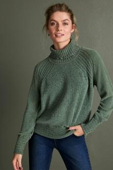 Capture Chenille Roll Neck Sweater