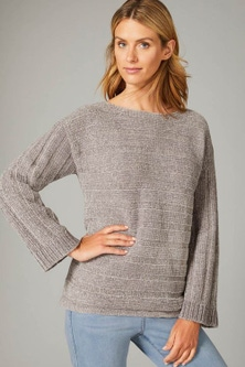 Capture Chenille Ribbed Sweater