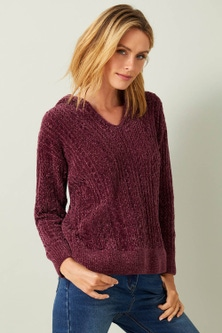 Capture Chenille Hooded Sweater