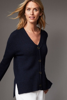Capture Lambswool V Neck Cardigan