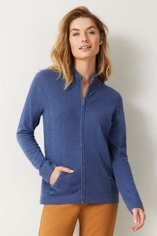 Capture Lambswool Full Zip Sweater