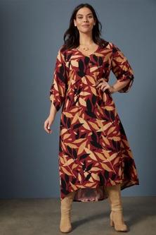 Sara Angled Panel Dress