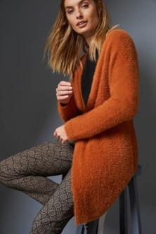 Capture Feather Knit Cardigan