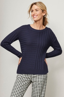 Capture Ribbed Panel Sweater