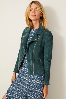 Capture Suede Biker Jacket