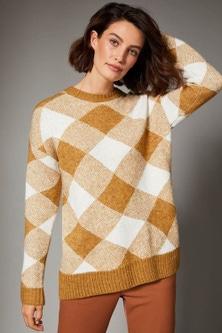Grace Hill Check Sweater