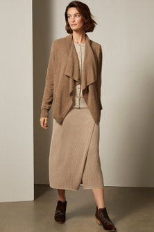 Grace Hill Ribbed Knit Wrap Skirt