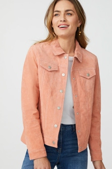 Emerge Suede Trucker Jacket