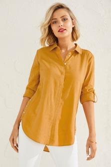 Capture Linen Blend Button Shirt