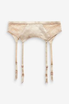Next Signature Silk And Lace Suspender Belt
