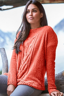 Urban Cable Pattern Chenille Jumper
