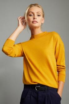Emerge Merino Mock Neck Sweater