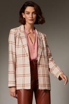 Grace Hill Linen Blend Tailored Jacket
