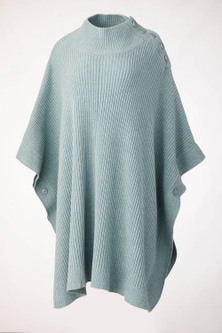Sara Lambswool Button Cowl Poncho