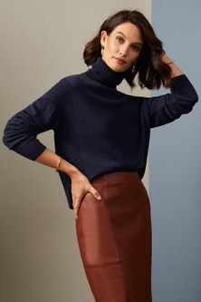 Grace Hill Cashmere Blend Roll Neck