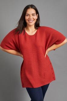 Sara Merino Button Pocket Sweater