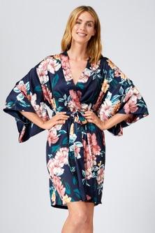 Mia Lucce Satin Kimono Robe