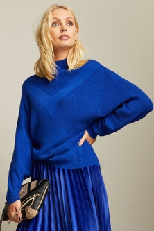 Emerge Stitch Detail Batwing Sweater