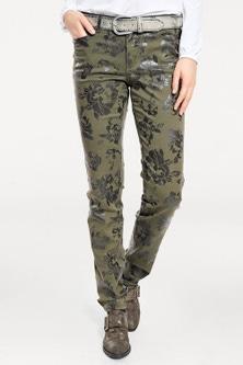 Heine Khaki Floral Pants