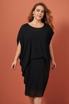 Sara Chiffon Pleat Dress