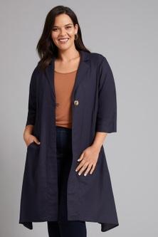 Sara Linen Blend Shirt Jacket