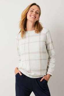 Capture Winter Knit Check Sweater