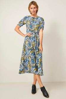 Capture Pleat Detail Midi Dress