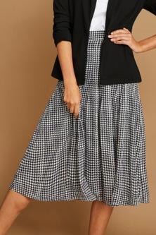 Capture Pleated Chiffon Skirt